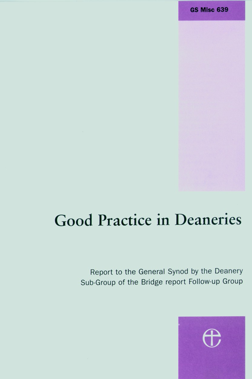 good practice in deaneries good practice in deaneries front cover